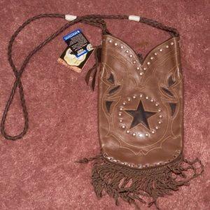 Montana Silversmiths leather boot purse